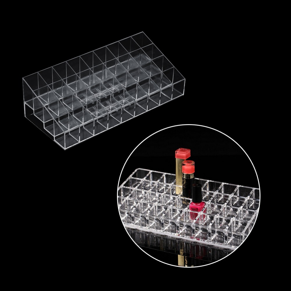 36 Grid Transparent Lipstick Mascara Holder Cosmetic Organiser Display Rack Top Quality