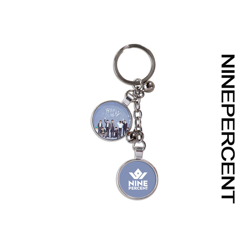 Ninepercent FAN MEETING TOUR THXWITH LOVE To The Nines Key Chain Keyring Pendant Angy Justin Rock The Show