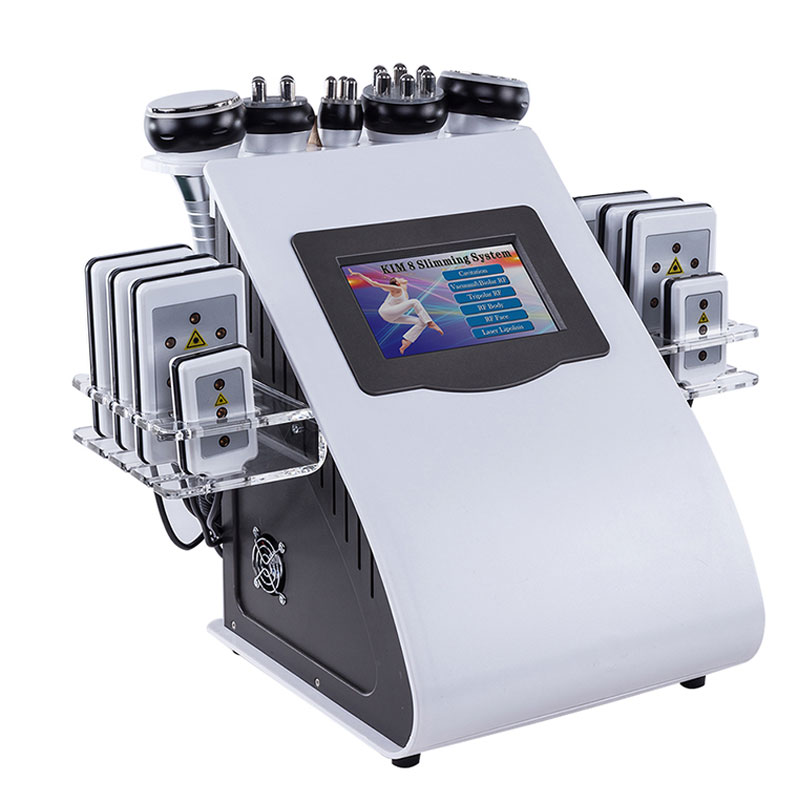 6w1 liposukcja ultradźwiękowa 40K kawitacja próżniowa wielobiegunowa dwukolorowa częstotliwość radiowa RF laserowa maszyna do odchudzania