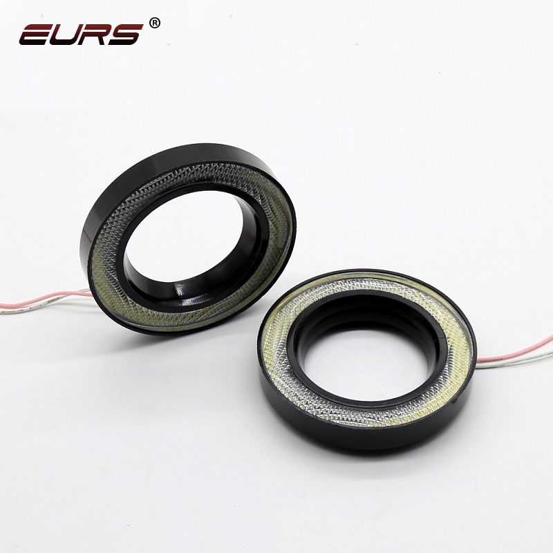 """Details about  /2x 80mm Super White LED Halo Rings Angel Eyes HID Headlight Fog Light 3.15/"""""""