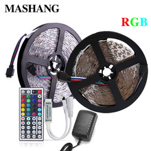 цена на 5M 10M 5050 SMD LED Light Waterproof RGB LED Strip DC 12V Flexible LED Strip TV Background Lighting with IR Remote Controller