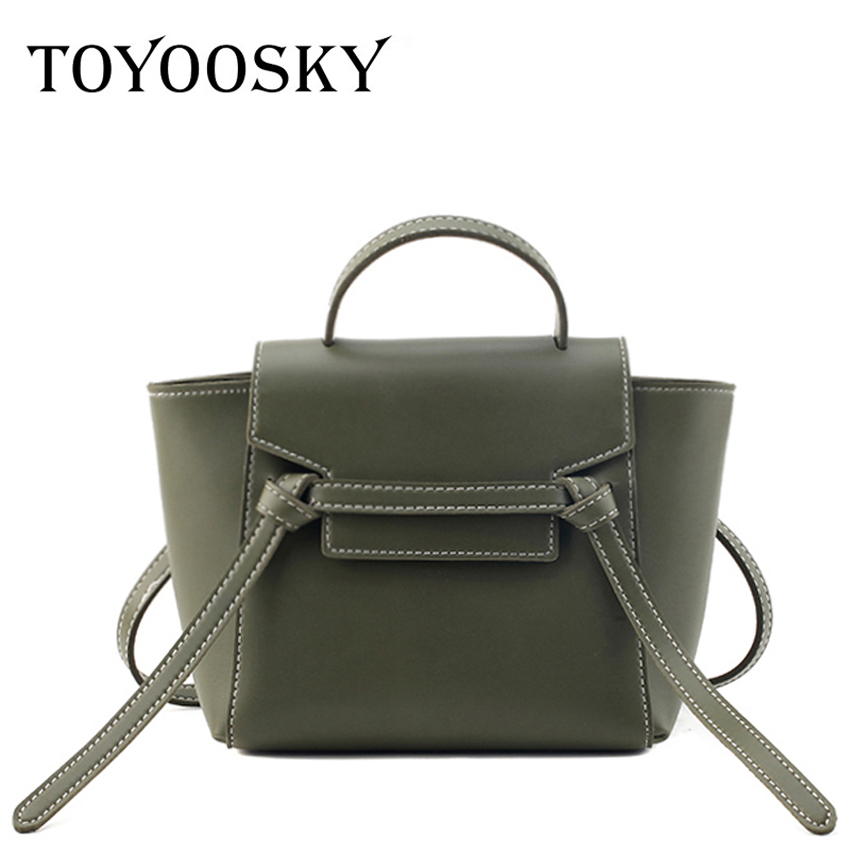 TOYOOSKY New Fashion Leather Women Handbag Luxury Bag Designer Brand Shoulder Crossbody Trapeze Casual Tote