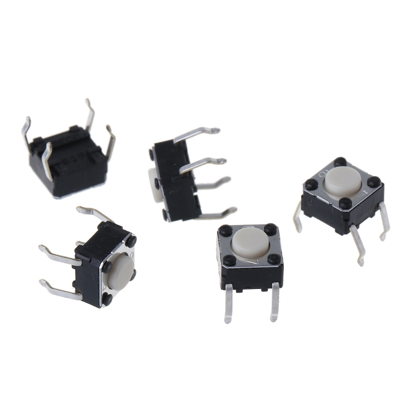 5Pcs Mouse Micro Switch For Logitech M185 M215 G300 G402 G602 M570 6x6x4.3mm