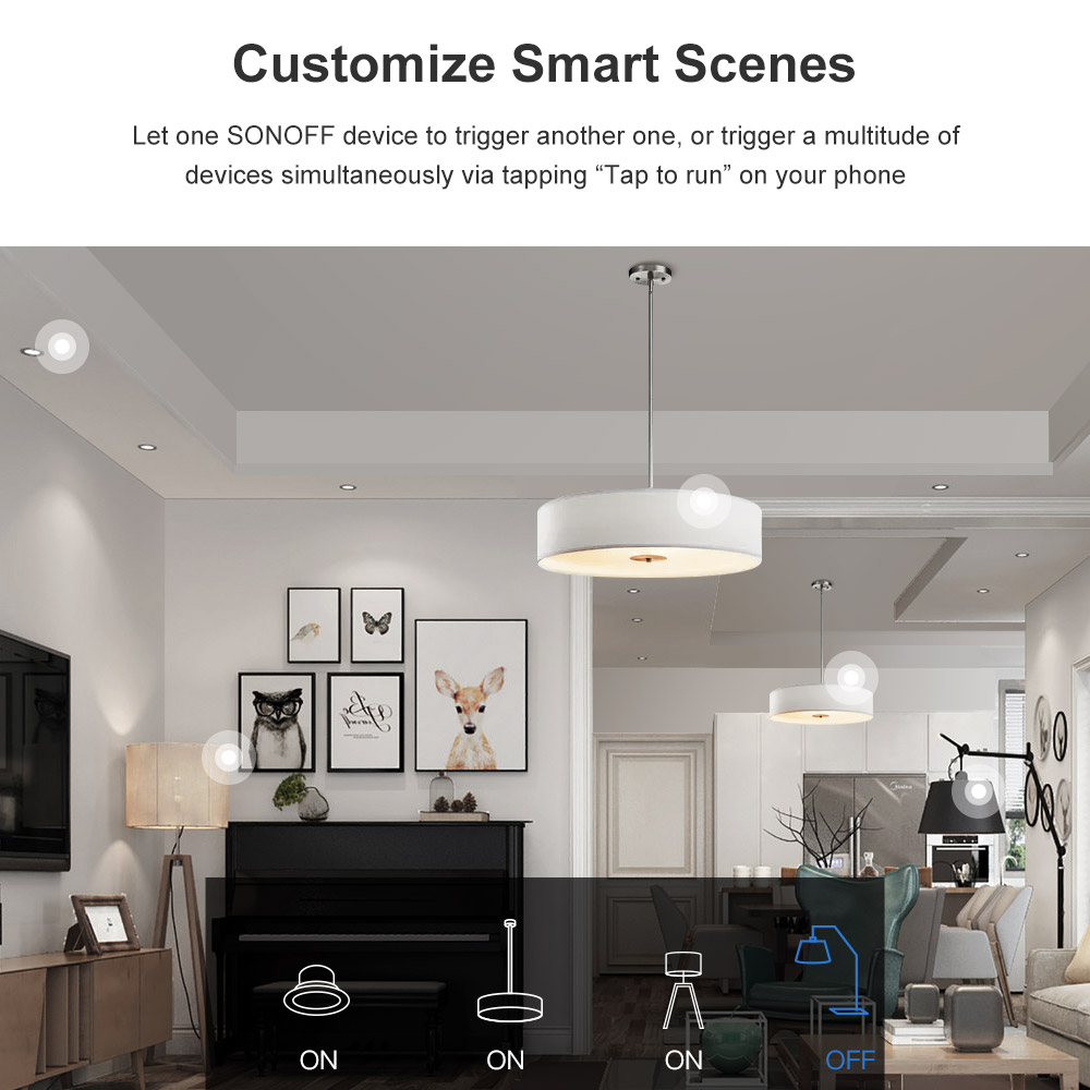 Image 5 - Itead 5/10/20PCS Sonoff MINI DIY Small Body Remote Control Wifi  Smart Switch Support External Switch Work With Alexa IFTTTHome  Automation Modules