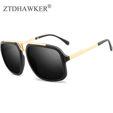 Trendy Men's Sunglasses Fashion Retro Metal Spectacles Women Big Frame