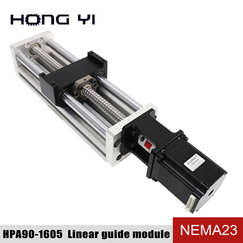 High Precision Linear Modules effective stroke 300mm Ball screw SFU1605 linear bearing NEMA 23 stepper motor for CNC table