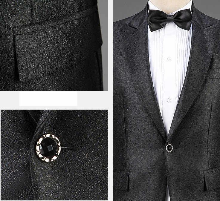 Colorful Sequin Men Suit Set with Bow Tie Suits Men 2019 Fashion Glitter Mens Suits 3 Piece Groom Suit Party Prom Stage Costume