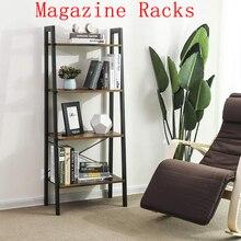 Fashion Magazine Racks Simple Bookshelves 4-layer Dormitory Bedroom Storage Shelves Bookcase Children's Assembly Bookcase HWC