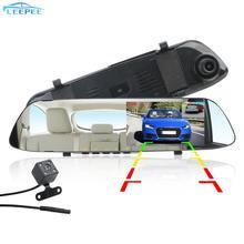 DVR Xe Ô Tô Dash Camera Màn Hình IPS Tầm Nhìn Ban Đêm Đảo Chiều Hình Lái Xe Đầu Ghi Video Kênh Đôi Gương Chiếu Hậu Đầu Ghi