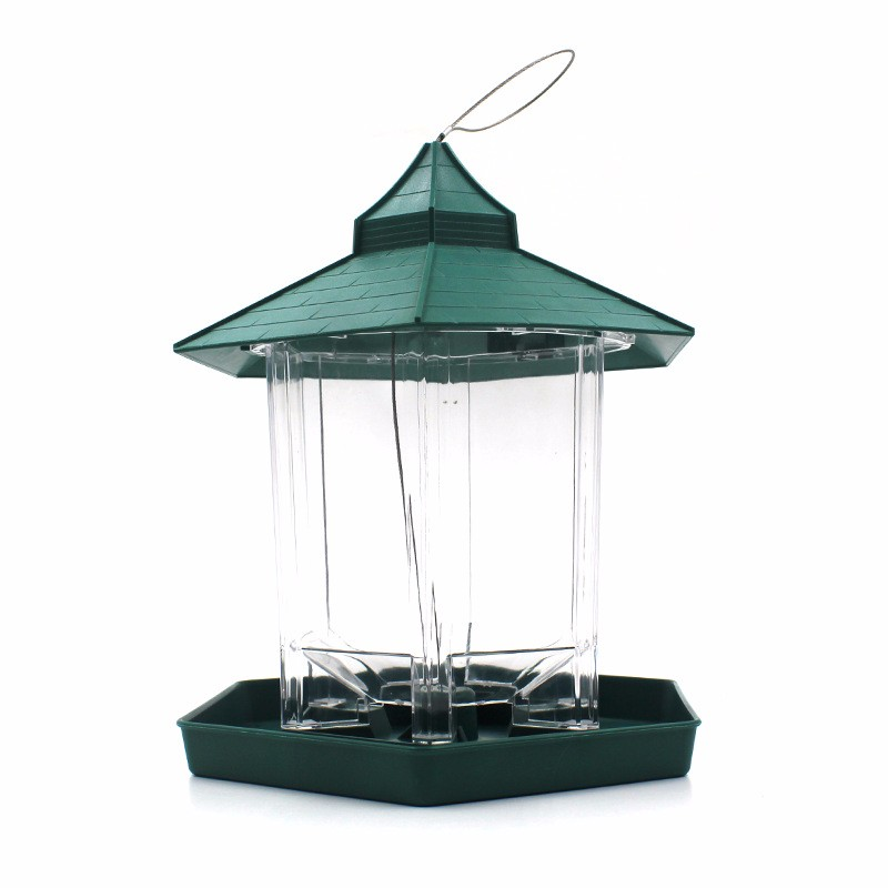 GTBL European Style Wild Bird Feeder Outdoor Bird Feeders Food Container Hanging Gazebo Bird Feeder Perfect For Garden Decoratio