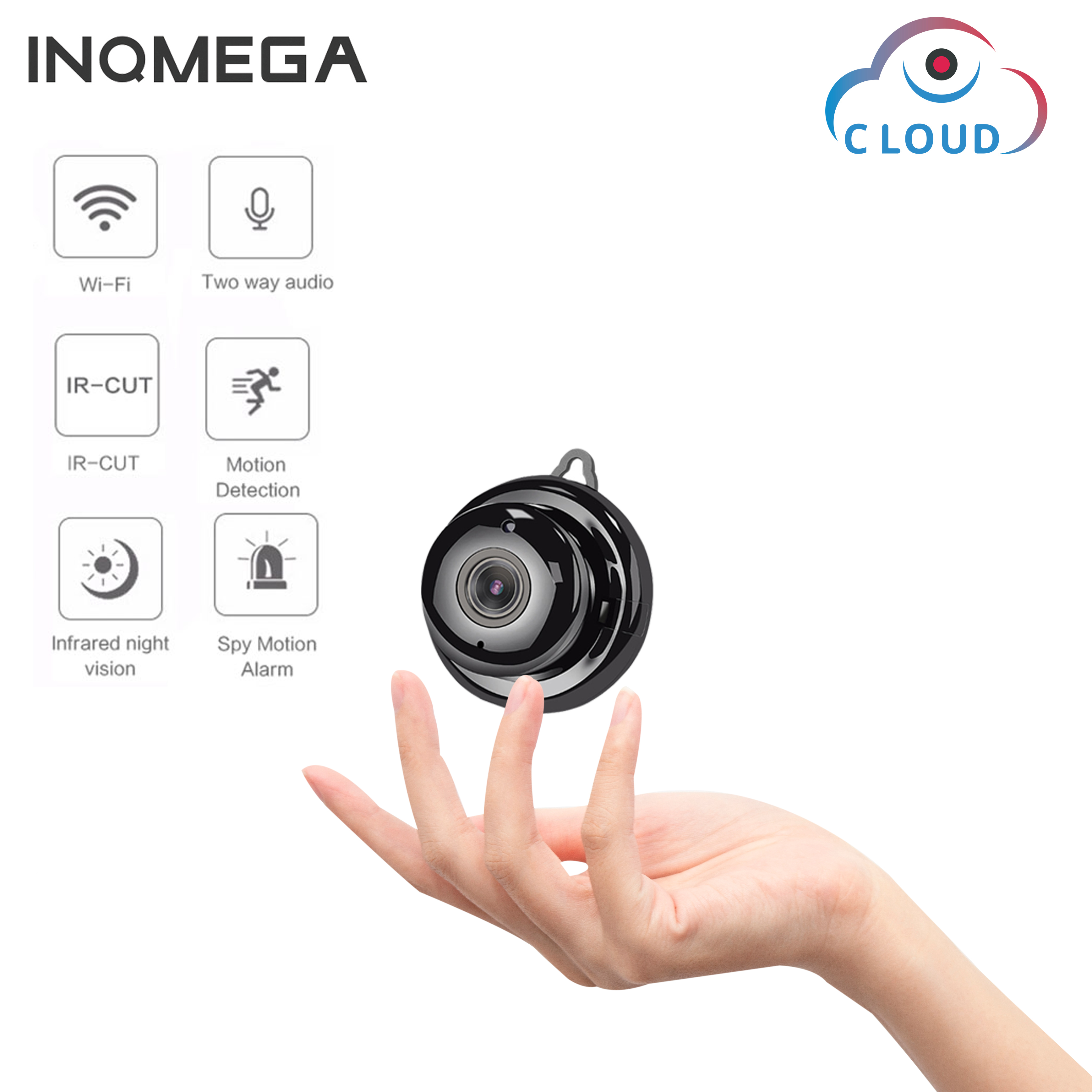 INQMEGA 960P Wireless  Mini WiFi Camera Home Sec Surveillance IR Night Vision Motion Detect Baby Monitorurity Camera IP CCTV