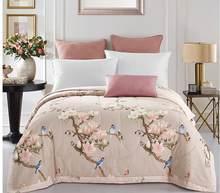 50 pássaros do amor azul 1 pçs algodão 150x200cm e 200x230cm colcha/verão macio cobertor edredão colcha capa de cama