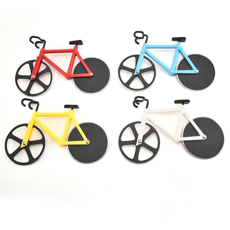 326.0¥ 38% OFF Bicycle Pizza Cutter Wheel Stainless Steel Plastic Bicycle Roller Pizza Cutter Slice...