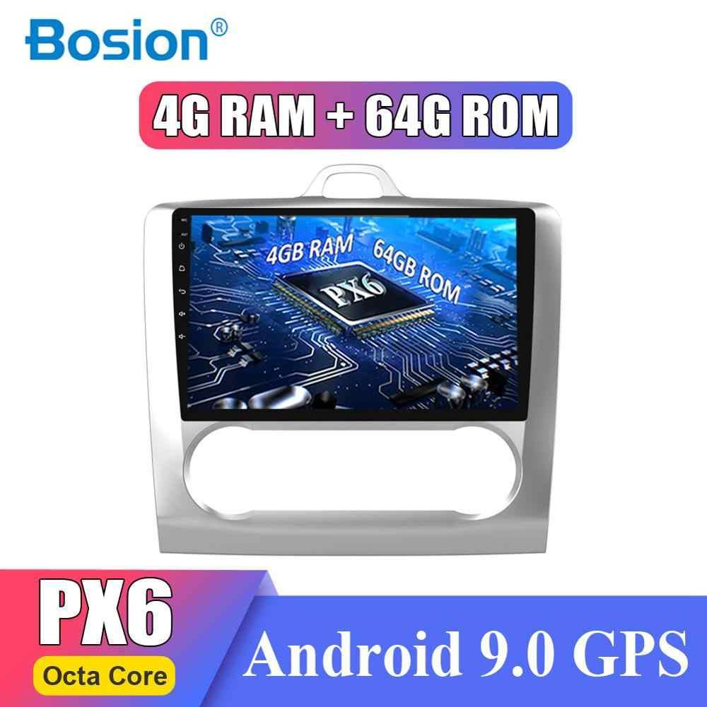 ذاكرة الوصول العشوائي 4G لفورد فوكس 2004-2011 أندرويد 9.0 مزدوجة الدين 9 بوصة لتحديد المواقع والملاحة ثماني النواة راديو السيارة HDMI ميناء AMP 7851 SWC BT