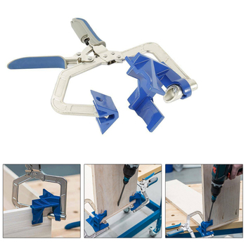 90 degree right angle fixed punch mounter Adjustable Corner Clamp for Kreg Jigs Miter T Joints Tool Fix Wooden Metallic Frames - discount item  25% OFF Woodworking Machinery