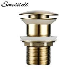 Smesiteli Bathroom Sink Drain Without Overflow Hole Brass Durable Anti-Corrosion Bathroom Bathtub Drain