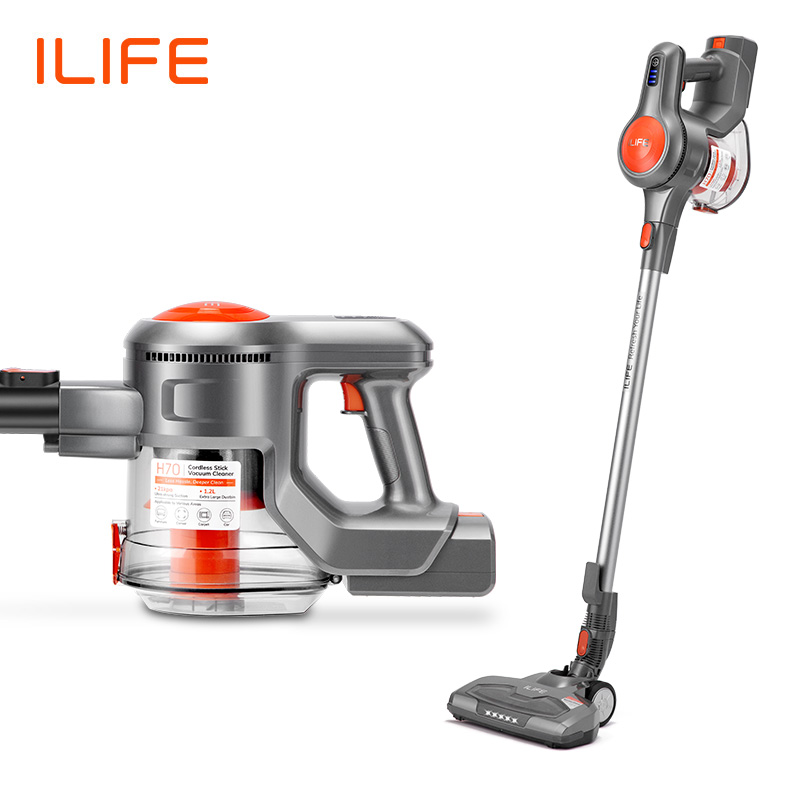 New Arrival ILIFE H70 Hand Stick Vacuum Cleaner Handheld Cordless Stick Aspirator 1.2L Big Dustbin 21000Pa Strong Suction Power