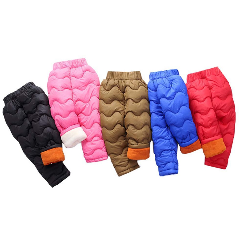 Fashion Cute Boys Winter Pants Kids Warm Legging Baby Boy Children Pants Girls Winter Children Down Warm Trousers Clothes