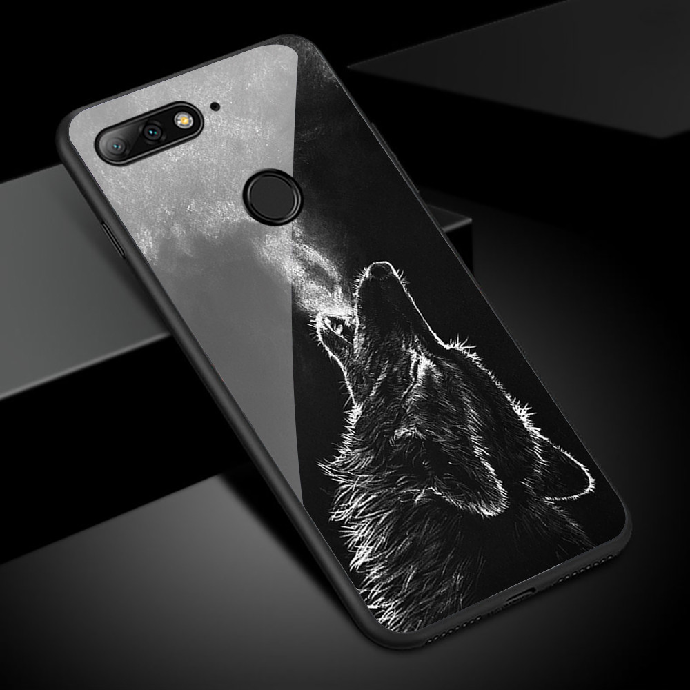 <font><b>Case</b></font> For <font><b>Huawei</b></font> Nova 2 2s 3 3i 5i 5T <font><b>Case</b></font> Tempered Glass Funda For <font><b>Huawei</b></font> Y6 Prime <font><b>Y7</b></font> Pro <font><b>2019</b></font> <font><b>Case</b></font> Phone Back Cover Coque Capa image