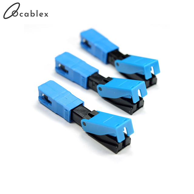 High Quality Quick Connector FTTH SC UPC Optical fiber covered wire SC UPC FTTH Fiber Optic Fast Connector SC Connector