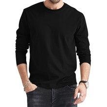 20 stylów męskie koszulki z długim rękawem męskie bawełniane letnie damskie podstawowe koszulki damskie zwykłe marki wokół szyi koszulki Slim Shirt Solid