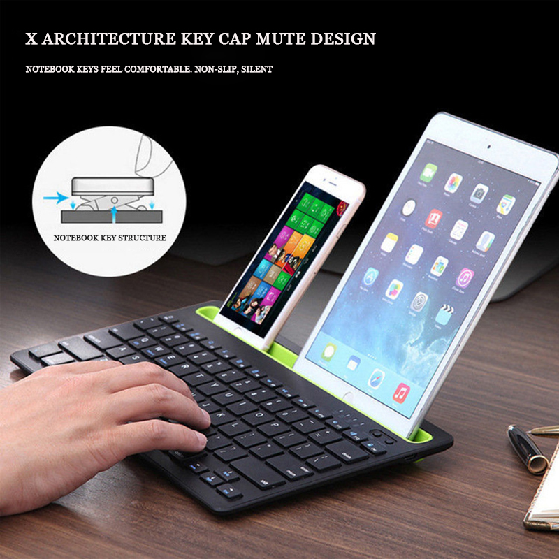 Phablet notebook silent keyboard multi-system support integrated card slot Bluetooth keyboard smart power saving anti-skid comfo