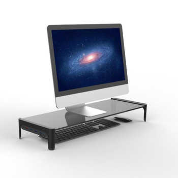 Multi-function Computer Screen Riser Strong glass Shelf Plinth For Computer Laptop TV Laptop-Stand-Holder LCD LED Monitor Stand
