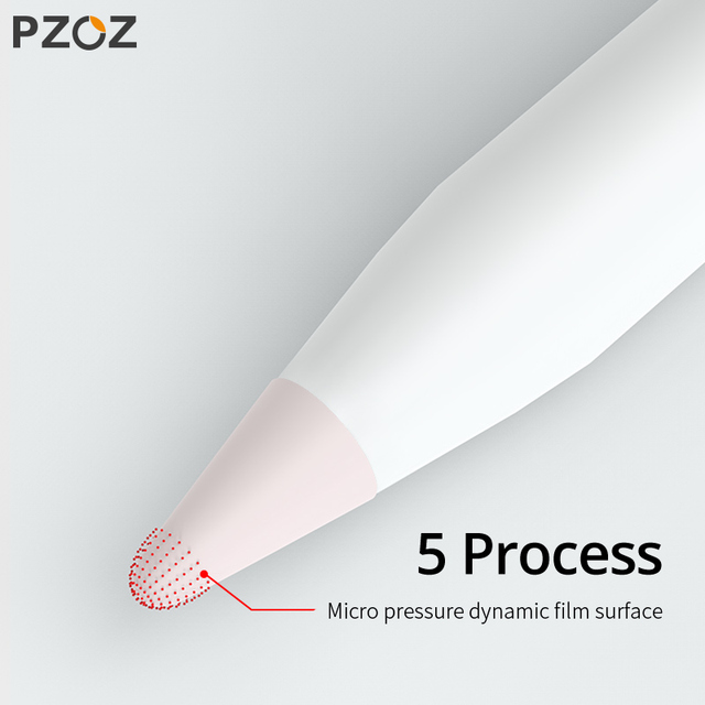 PZOZ 8 pcs for Apple Pencil 1 2 Tablet stylus Touch Pen nib case Soft silicone Protective case for apple Pen case touch cover 1