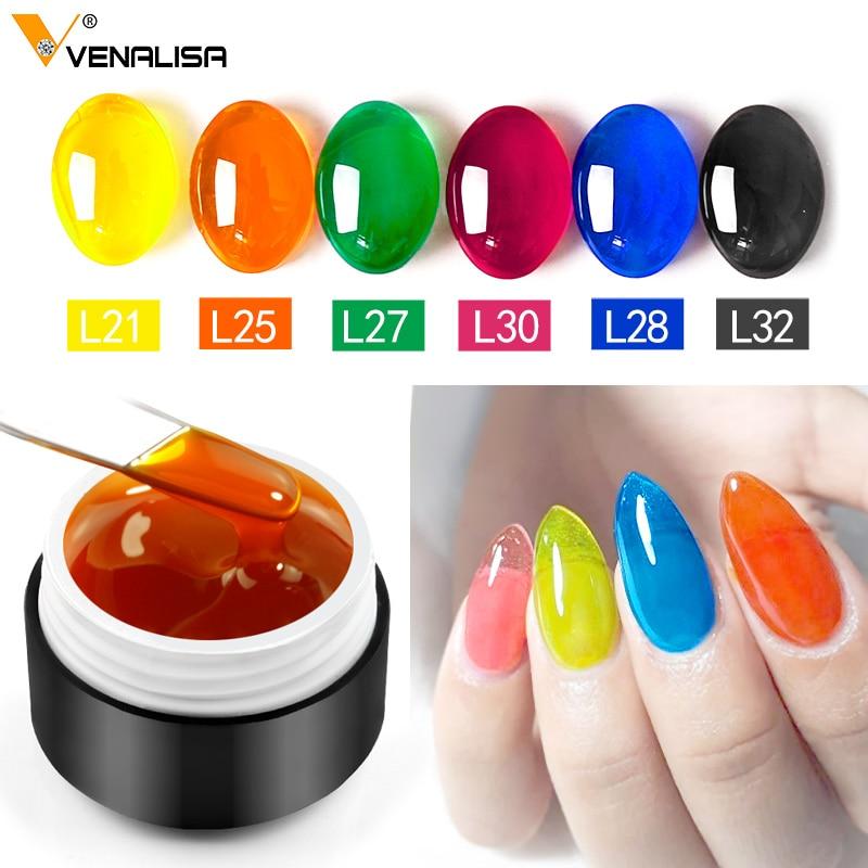 New Venalisa 5ml nail art design uv led glaze gel lacquer soak off color crystal nail glass paint enamel nail polish gel varnish(China)
