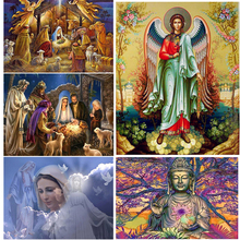 Birth of Jesus 5D Diamond Painting Embroidery Full Round Drill Mosaic Religion Angels Cross Stitch Home Decoration Gift birth of jesus christ 5d diy diamond painting cross stitch religion full square round drill mosaic diamond embroidery home decor
