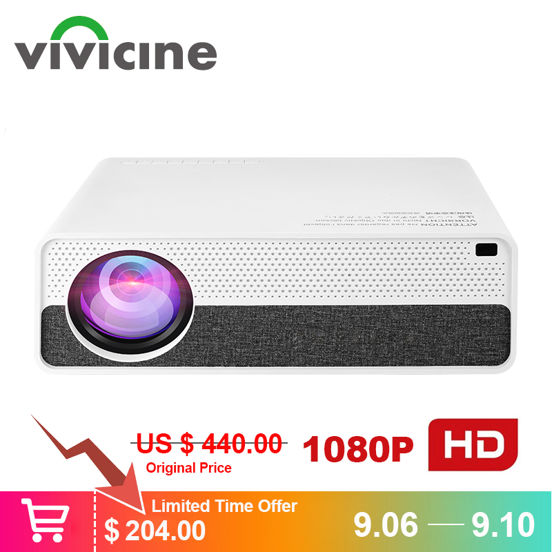Vivicine M19 Mais Novo Projetor 1080 p, opção Android 9.0 HDMI USB PC 1920x1080 Full HD LED Home Theater Projetor De Vídeo Projetor