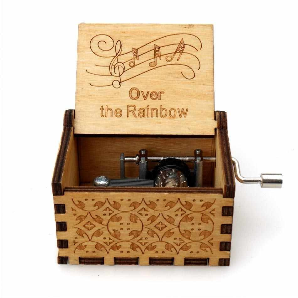 ホットアンティーク彫刻木製ハンドクランク女王オルゴールゲームの魂に私 Goigeous 妻テーマ音楽ボックスクリスマス誕生日ギフト
