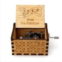 High Quality Wood Music Box Simpson Caixinha De Musica Island Princess Star Wars RainBow Birthday Party Christmas Gift