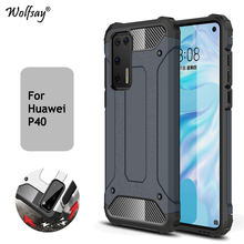 For Huawei P40 Pro P40 Case Shockproof Armor Rubber Bumper Hard PC Phone Case For Huawei P40 Pro Protective Cover For Huawei P40 for huawei p40 pro case ultra thin smooth hard pc back cover for huawei p 40 pro protective phone bumper case for huawei p40 pro