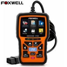Foxwell nt301 OBD OBD2 Двигатели для автомобиля универсальный автомобильный код читателя диагностический инструмент multi-языки OBD 2 Диагностический прибор ОДБ 2 автомобильная сканер