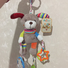 Baby Toys Plush-Stroller-Toys Hanging-Bell Animal Mobiles Educational 0-12-Months Cartoon