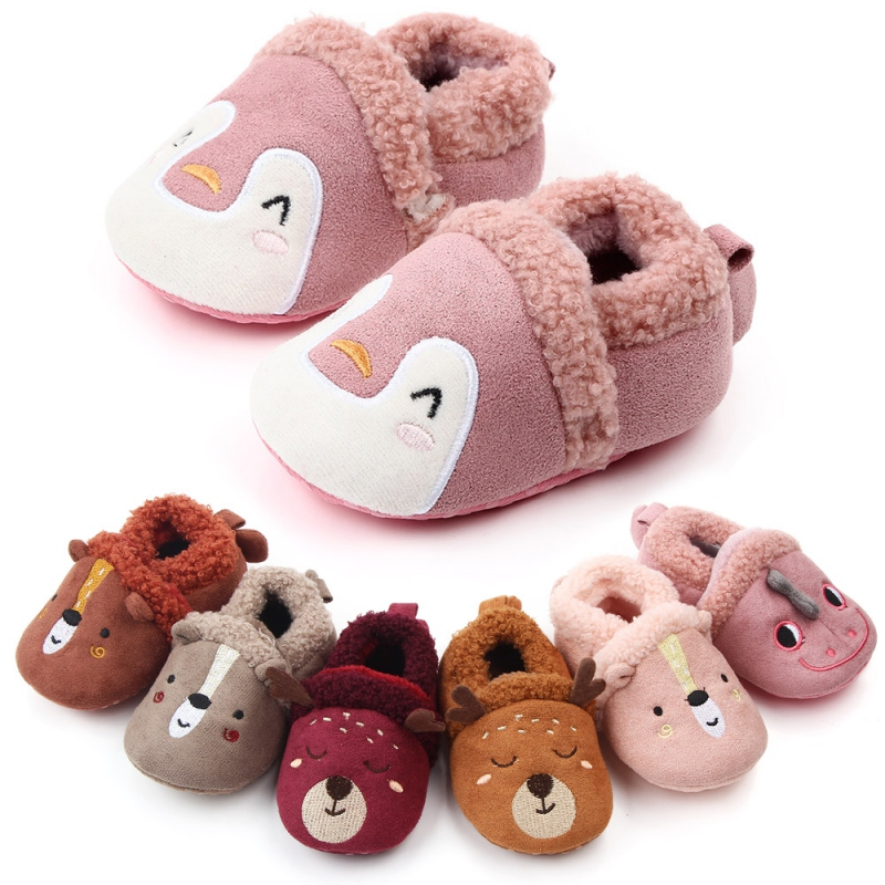 2019 Toddler Newborn Baby Shoes Boys Breathable Anti-Slip Casual Cartoon Animal Sneakers Toddler Soft Soled Fur First Walker #9