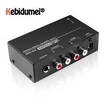 Kebidumei-Preamplificador de Phono ultracompacto con RCA, 1/4 pulgadas, compatible con Interfaces TRS, Preamplificador de Phono PP400