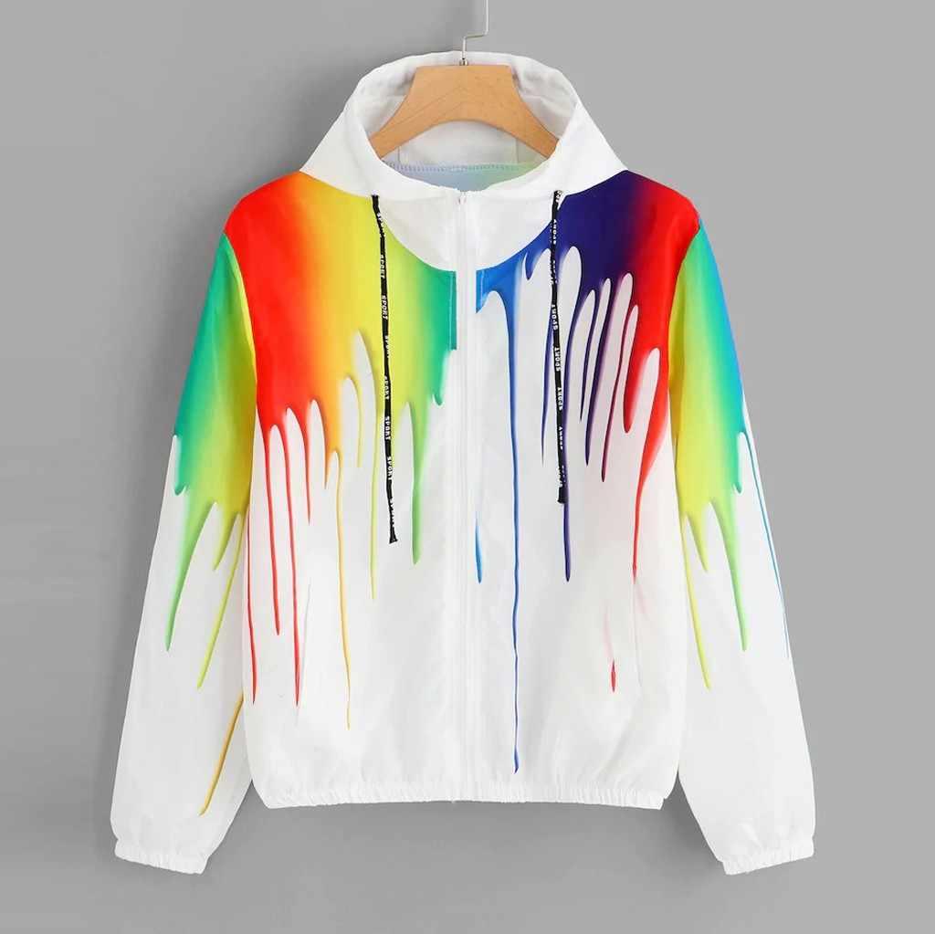 ファッションカラフルなジャケットレディース秋冬コート女性 2019 ロングスリーブフード Outwears レディースホワイト Veste ファム # G30