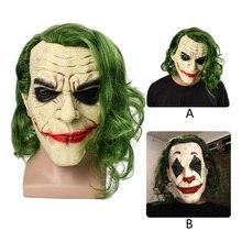 ภาพยนตร์ Batman Dark Knight คอสเพลย์สยองขวัญน่ากลัว Clown Mask หน้ากากโจ๊กเกอร์สีเขียววิกผมหน้ากากฮาโลวีน Party เครื่องแต่งกาย