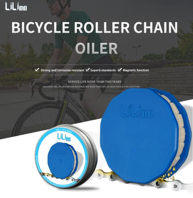 Bicycle Chain Wool Oil Lubricator Bike Chain Oiler Roller Cycling Cleaner Lubricant W/Magnet Bike Chain Repair Tools
