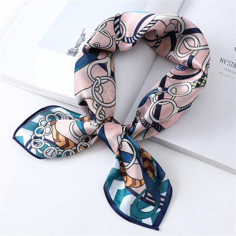 Neck Scarf Women Wraps Silk Hair Band Tie Designer Print Floral Square Scarves Lady Shawls And Wraps Foulard Bandana 2020