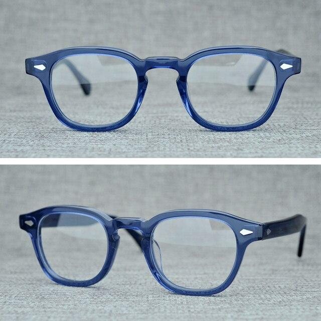 Handmade Lemtosh Johnny Depp Glasses Optical Glasses Frame Men Women Luxury Brand Acetate Frame Vintage Eyeglasses Logo Z082