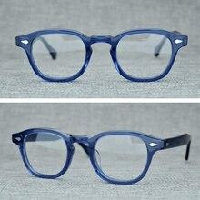 Óculos de grau johnny depp z082, óculos feito à mão, unissex, de luxo, armação de acetato, vintage