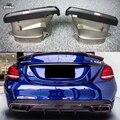 AK style выхлопные трубы из углеродного волокна для Benz C class c250 sport bumper W205 C63 AMG из нержавеющей стали