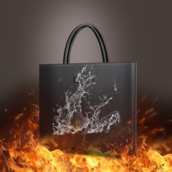 Draagbare Stereo Siliconen Fire Proof Bestand Zak Document Financiële Bestand Informatie Fire Zak Brand Bag