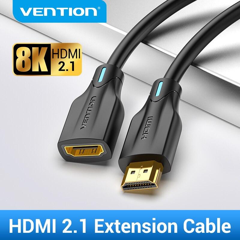 Cavo di prolunga HDMI 2.1 Vention cavo di prolunga HDMI 8K 60Hz cavo HDMI maschio-femmina 48Gbps per interruttore HDTV PS4 estensione HDMI