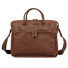 Briefcase-Bags Shoulder-Bag Laptop Documents Business Large-Capacity Vintage 14inch Women