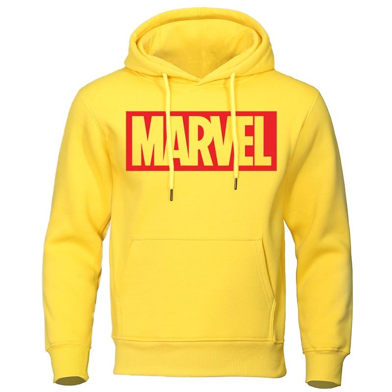 Marvel Print Mens Hoodies 2020 Autumn Winter New Tracksuit Fashion Warm Man Hooded Sweatshirts Casual Male Pullover Streetwear