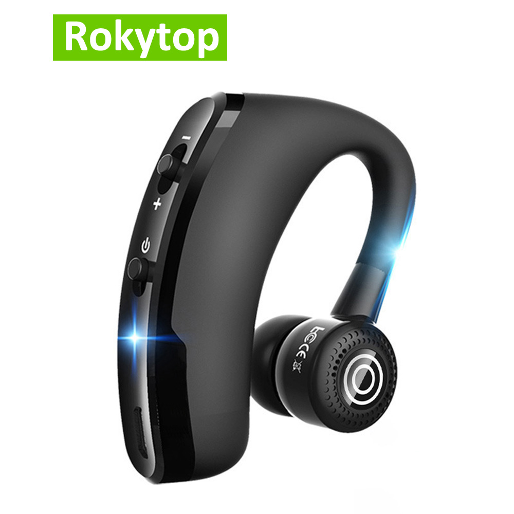 Handsfree Business <font><b>V9</b></font> <font><b>Bluetooth</b></font> Headphones Wireless Earphone with Mic Voice Control Noise Cancelling <font><b>Bluetooth</b></font> <font><b>Headset</b></font> For Drive image